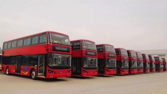 我怎么这么好看!淮安公交双层巴士即将上路!