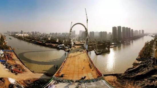 今天,大运河桥主桥成功合龙!