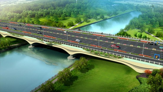 古淮河桥大变样 雕塑景观有颜值还有故事